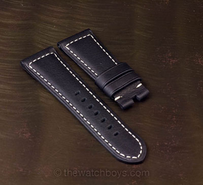 Ultrasoft Black with White Stitch for Tang Buckle - Click Image to Close