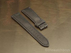Breitling Style Black Ultrasoft Leather Strap with Black Stitch