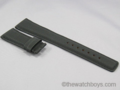 IWC Style Black Rubber Texture (for DEPLOYANT) Black Stitch