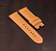 Ultrasoft Tan with White Stitch for Tang Buckle