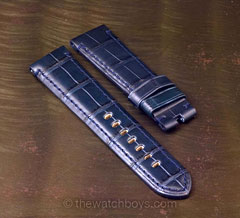 Dark Blue Alligator with matching Stitch for Tang Buckle