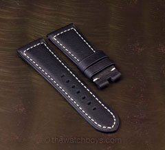 Ultrasoft Black with White Stitch for Tang Buckle