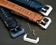 Brushed Pre-V Panerai® Style Buckles (screw-in)