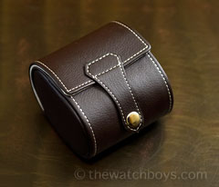 Single Watch Travel/Storage Case - Brown Leatherette