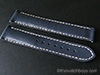 Omega Style Dark Blue Water Resistant Leather with White Stitch