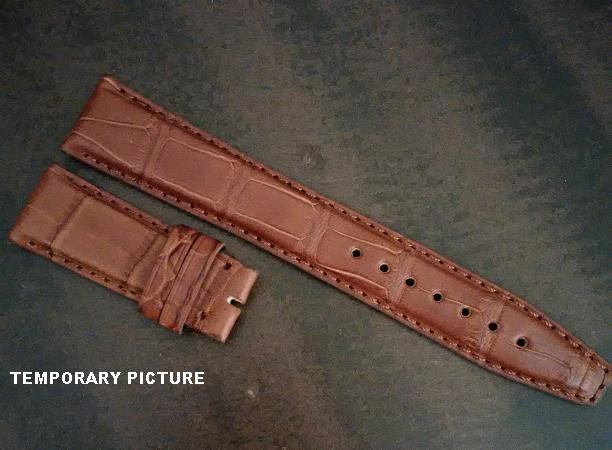 IWC Style Genuine Honey Alligator (for DEPLOYANT) Match Stitch