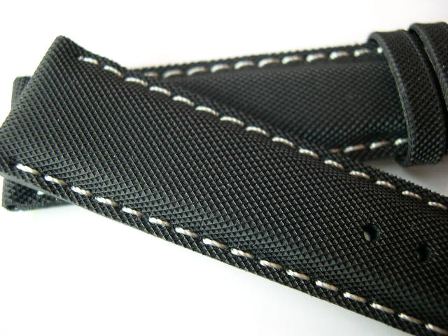 Iwc Style Black Rubber Texture Kevlar